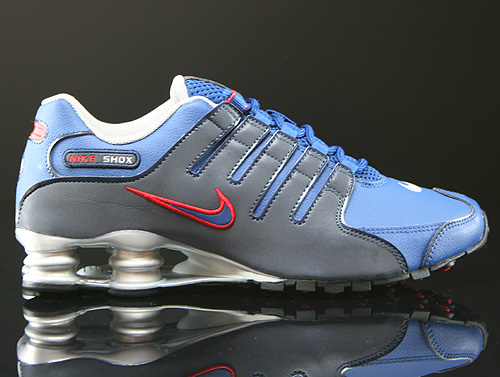 Nike Shox NZ EU Gym Blue Obsidian Metallic Silver Sneakers 501524-401