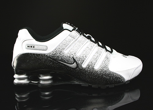 Nike Shox NZ EU White Metallic Silver Black Sneakers 501524-103