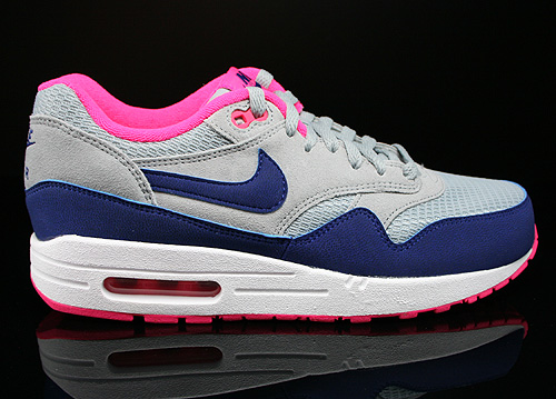 Nike WMNS Air Max 1 Essential Light Magnet Grey Deep Royal Blue Hyper Pink Sneakers 599820-003