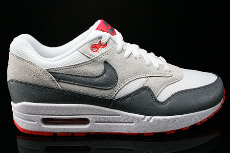Nike WMNS Air Max 1 Essential White Cool Grey Base Grey Light Crimson Sneakers 599820-106