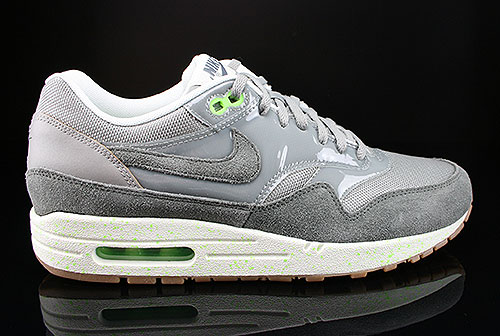 Nike WMNS Air Max 1 Mine Grey Mercury Grey Flash Lime Sail Sneakers 319986-024