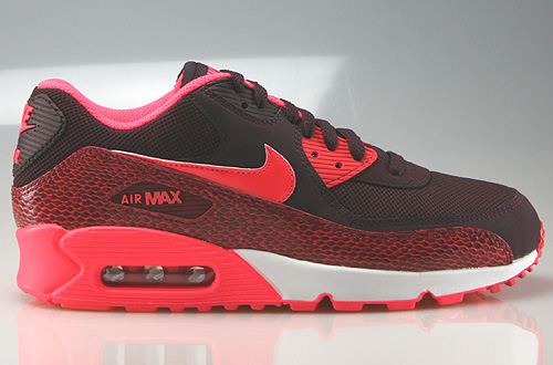 Nike WMNS Air Max 90 Deep Burgundy Hyper Punch Team Red Sneakers 325213-610