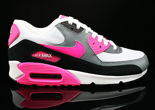 Nike WMNS Air Max 90 Essential White Hyper Pink Cool Grey Black Sneakers 616730-101