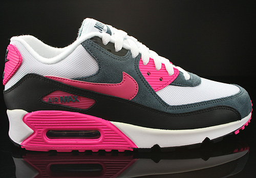 Nike WMNS Air Max 90 White Pink Foil Black Dark Armory Sneakers 616730-100
