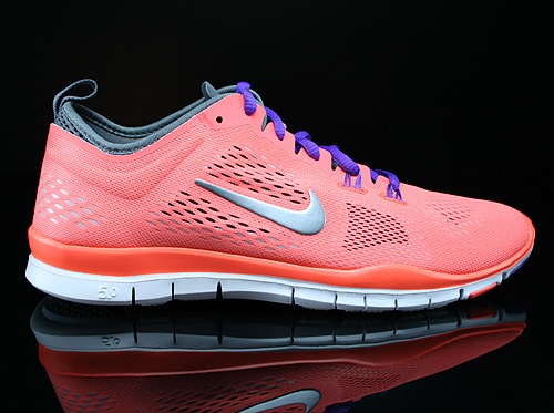 Nike WMNS Free 5.0 TR Fit 4 Bright Mango Wolf Grey Cool Grey Anthracite Sneakers 629496-801