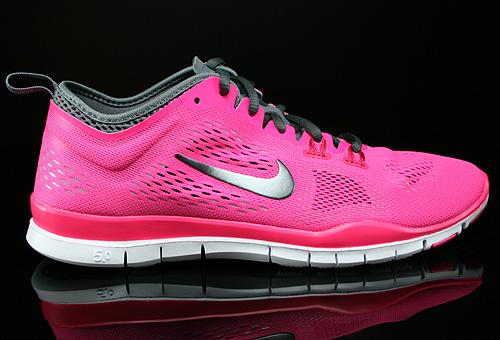 Nike WMNS Free 5.0 TR Fit 4 Hyper Pink Dark Grey Cool Grey Wolf Grey Sneakers 629496-600