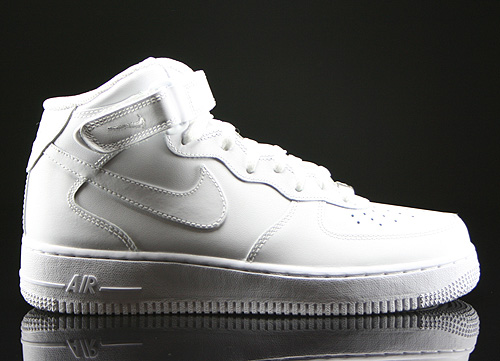 Nike WMNS Air Force 1 Mid White Sneakers 366731-100