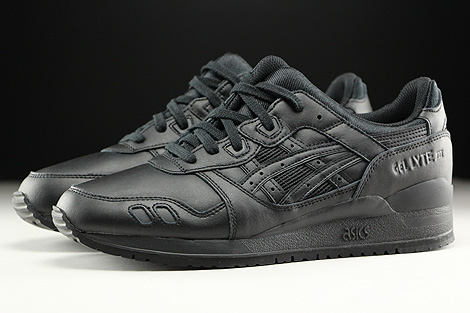 Asics Gel Lyte III Black Black Profile