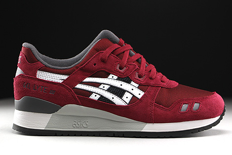 ... Asics Gel Lyte III Burgundy White Right ...