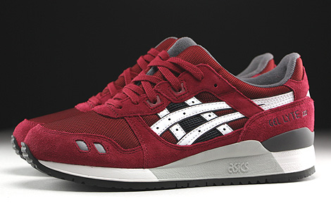 Asics Gel Lyte III Burgundy White Profile