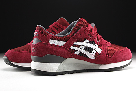 Asics Gel Lyte III Burgundy White Inside