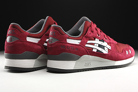 Asics Gel Lyte III Burgundy White Back view