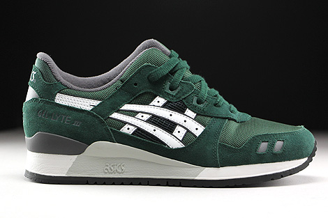 Asics Gel Lyte III Dark Green White Right
