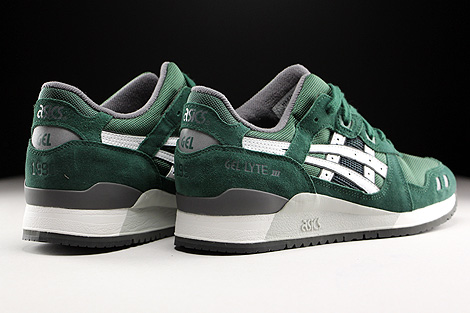 Asics Gel Lyte III Dark Green White Back view