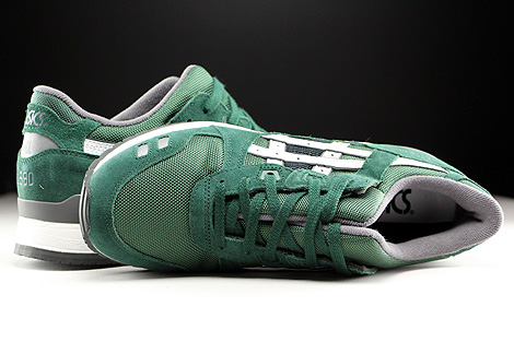 Asics Gel Lyte III Dark Green White Over view
