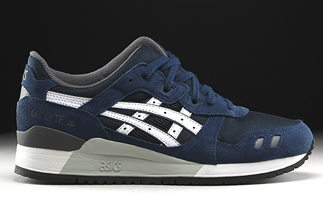 Asics Gel Lyte III Navy White Right