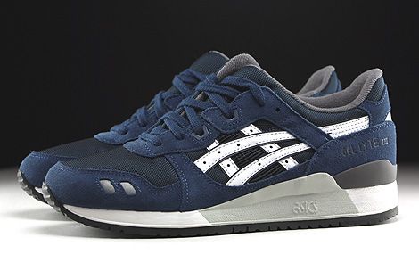 Asics Gel Lyte III Navy White Profile