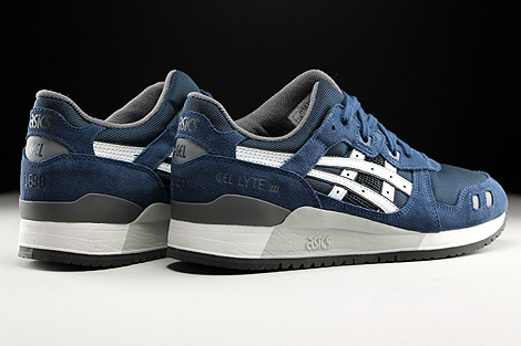 Asics Gel Lyte III Navy White Back view