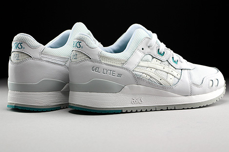 Asics Gel Lyte III White White Back view