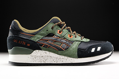 asics gel lyte 3 black and green