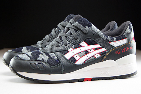 Asics Gel Lyte III Dark Grey White Profile