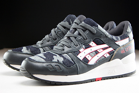 Asics Gel Lyte III Dark Grey White Sidedetails
