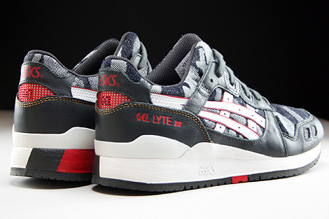Asics Gel Lyte III Dark Grey White Back view