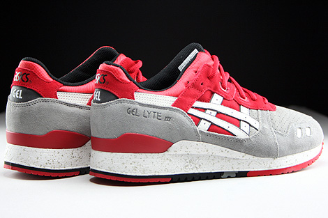 Asics Gel Lyte III Light Grey White Back view