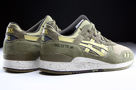 Asics Gel Lyte III Olive Sunshine Back view