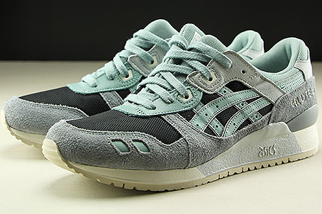 Asics Gel Lyte III Black Blue Surf Seitendetail