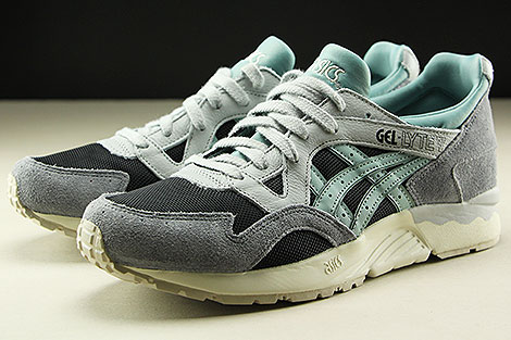 Asics Gel Lyte V Black Blue Surf Seitendetail