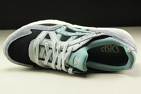 Asics Gel Lyte V Black Blue Surf Over view