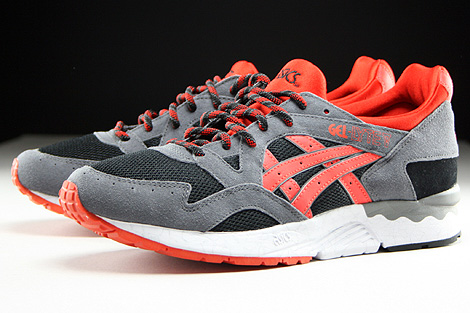 Asics Gel Lyte V Black Orange.com Sidedetails