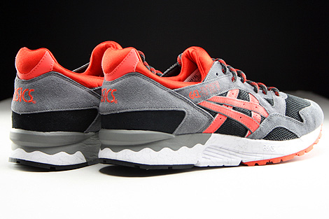 Asics Gel Lyte V Black Orange.com Back view