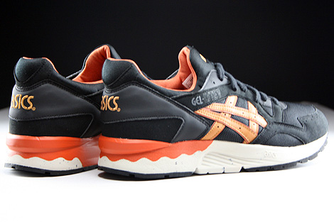 Asics Gel Lyte V Black Tan Back view