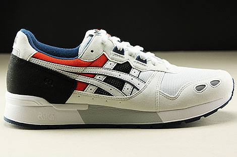 Asics Gel Lyte White Black Orange Dark Blue