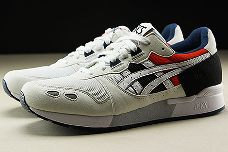 Asics Gel Lyte White Black Orange Dark Blue Profile
