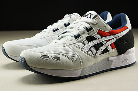 Asics Gel Lyte White Black Orange Dark Blue Seitendetail