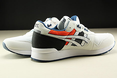 Asics Gel Lyte White Black Orange Dark Blue Innenseite