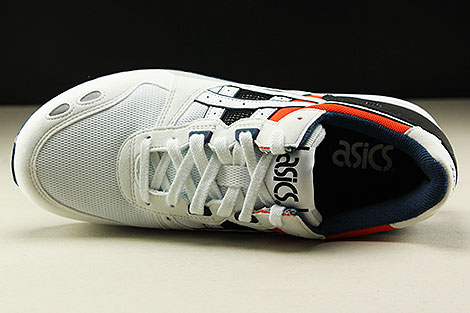 Asics Gel Lyte White Black Orange Dark Blue Over view