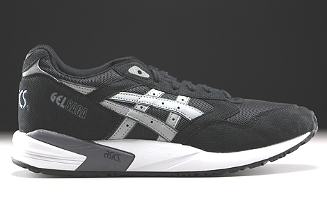 Asics Gel Saga Black Light Grey Right
