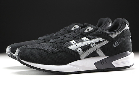 Asics Gel Saga Black Light Grey Profile