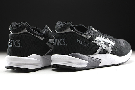 Asics Gel Saga Black Light Grey Back view