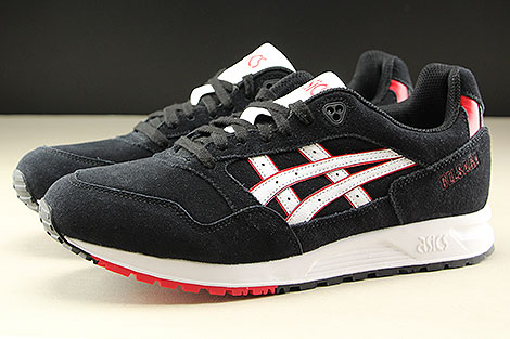 Asics Gel Saga Black White Profile