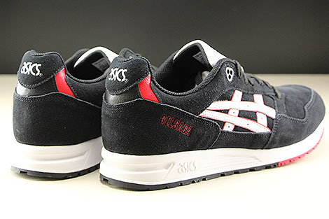 Asics Gel Saga Black White Back view
