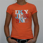 DKNY Jeans NYC T Shirt Orange