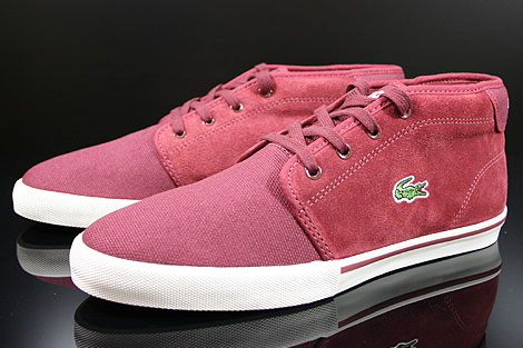Lacoste Ampthill TBC SPM Dark Red Sidedetails