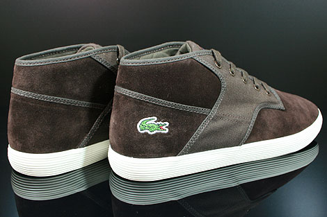 Lacoste Andover Mid CIW SPM LTH CNV Dark Brown Back view