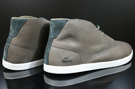 Lacoste Arona 14 SRM LTH Dark Grey White Back view
