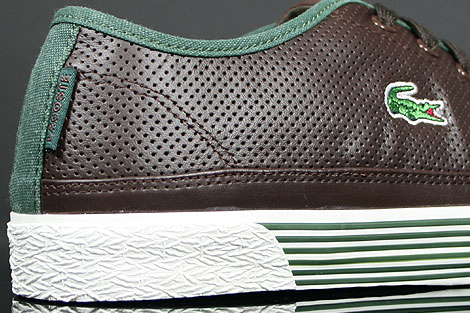 Lacoste Auvergne AL SPM LTH Dark Brown Dark Green Outsole